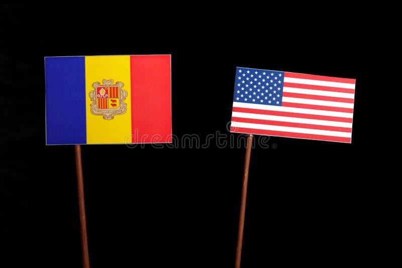 Download Andorra-Flagge Mit USA-Flagge Lokalisiert Auf Schwarzem Stockbild - Bild von regierung, schwarzes: 96931645