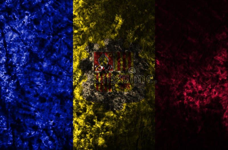 Andorra grunge flag on old dirty wall.  vector illustration