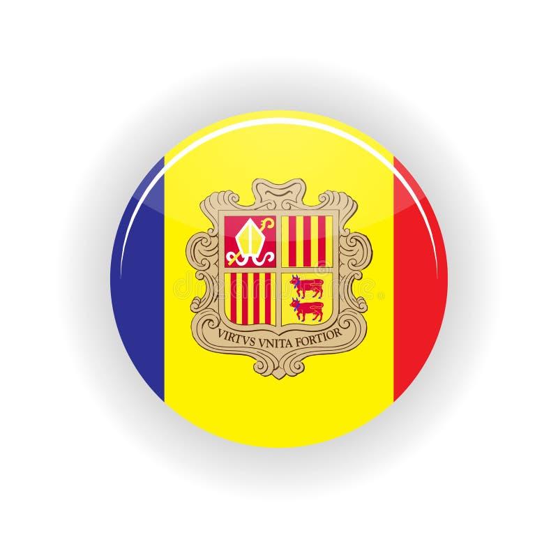 Andorra icon circle. On white background. Andorra la Vella icon vector illustration royalty free illustration