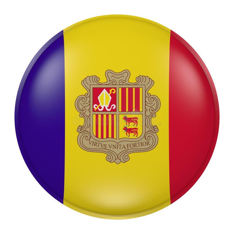 Andorra knapp stock illustrationer