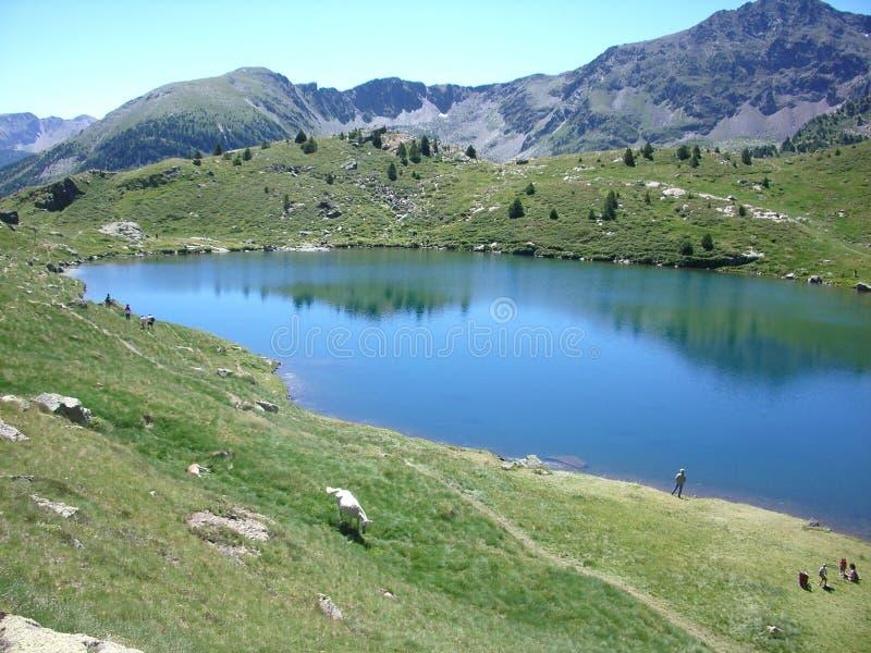 Andorra Llac Engolasters stockbilder