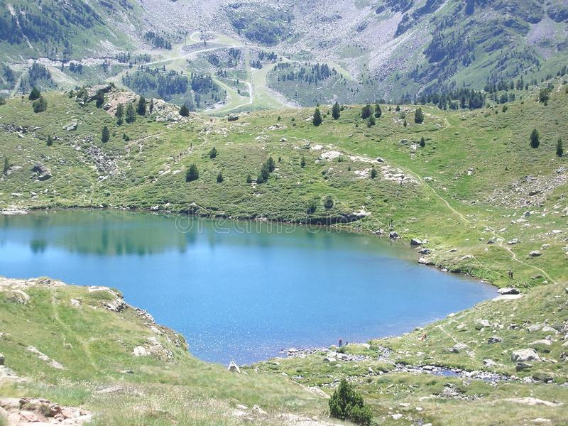 Andorra Llac Engolasters 2 royalty free stock photo