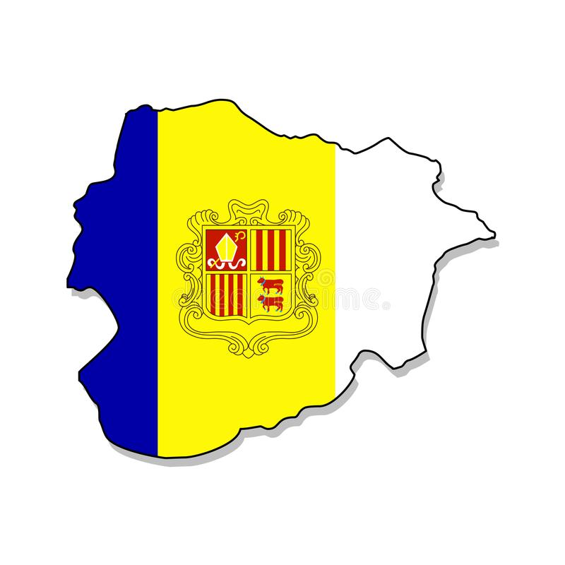 Andorra.Map of Andorra vector illustration royalty free illustration