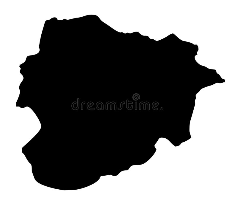 Andorra map silhouette vector illustration vector illustration