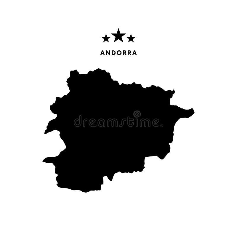 Andorra map. Vector illustration. Andorra map. Stars and text royalty free illustration