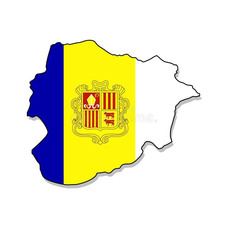 andorra Mapa da ilustração do vetor de Andorra ilustração royalty free