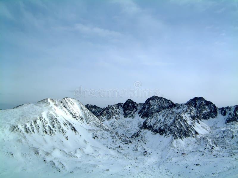 Andorra Mountains. Mountains above Port d'Envalira, Andorra royalty free stock image
