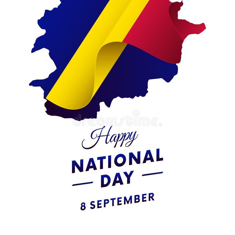 Andorra National Day. Andorra map. Vector illustration. Andorra National Day. Andorra map. Waving flag vector illustration