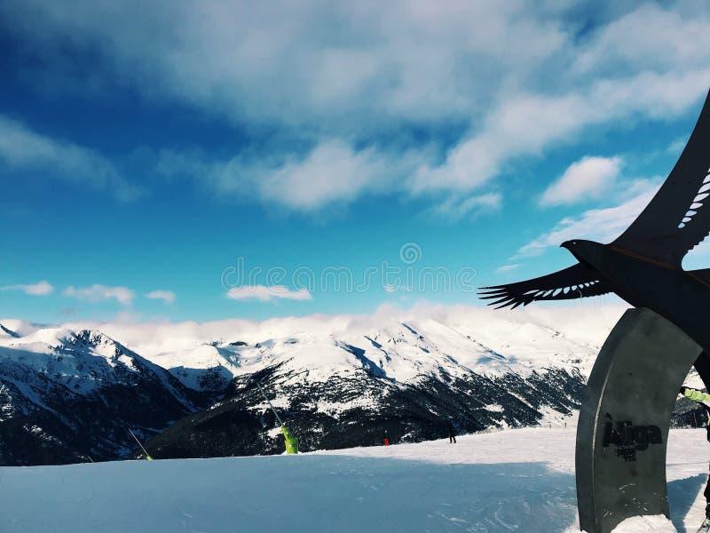 Andorra Spanien överkant av Mountain View arkivfoto