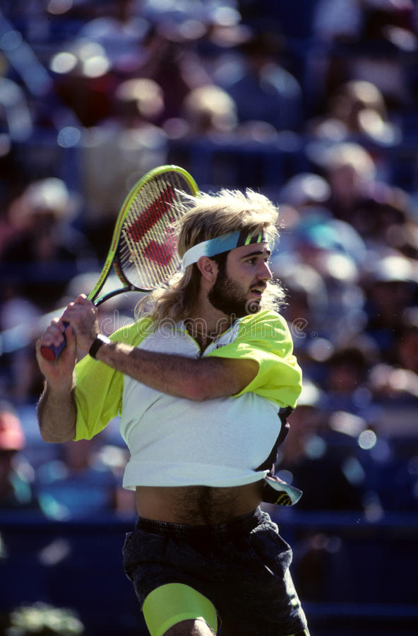 André Agassi image stock