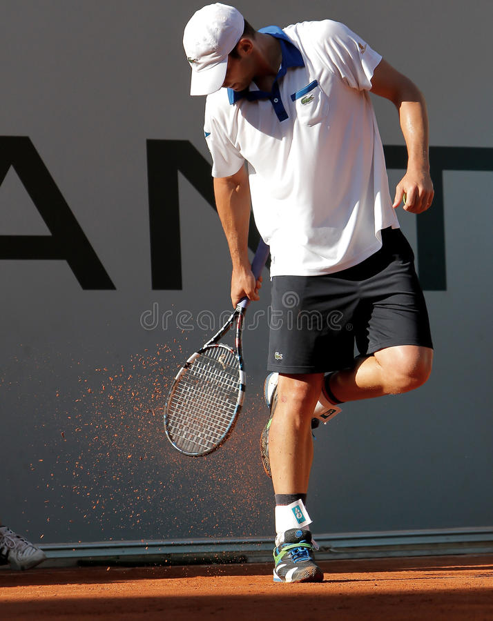 Andrés Roddick, tenis 2012 foto de archivo