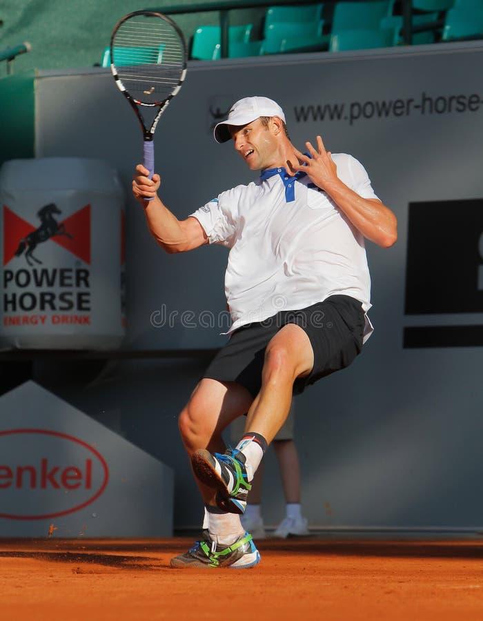 Andrés Roddick, tenis 2012 foto de archivo libre de regalías