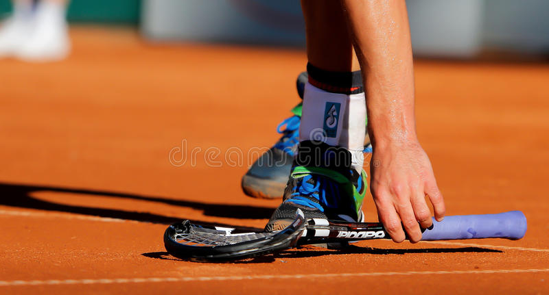 Andrés Roddick, tenis 2012 imagenes de archivo