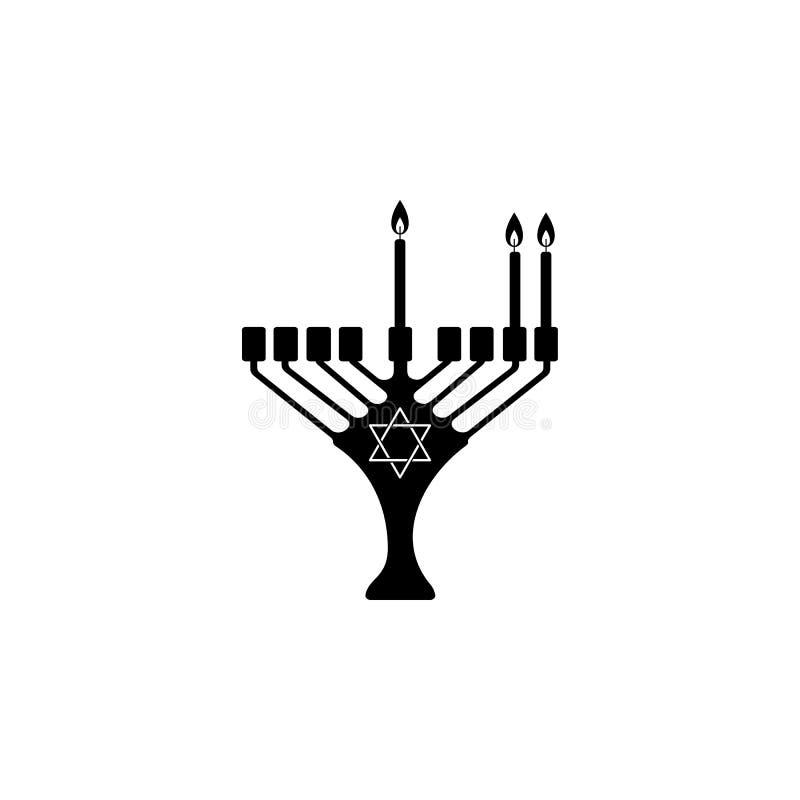 andra natt av Chanukkahsymbolen Beståndsdel av den hanukkah symbolen för mobila begrepps- och rengöringsdukapps Detaljerad andra  vektor illustrationer
