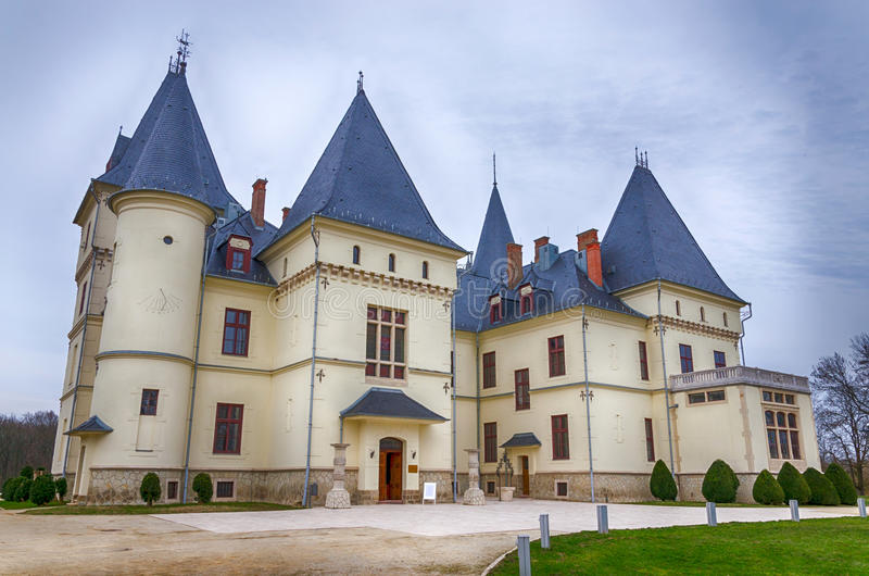 The Andrassy Castle in Tiszadob, Hungary royalty free stock photography