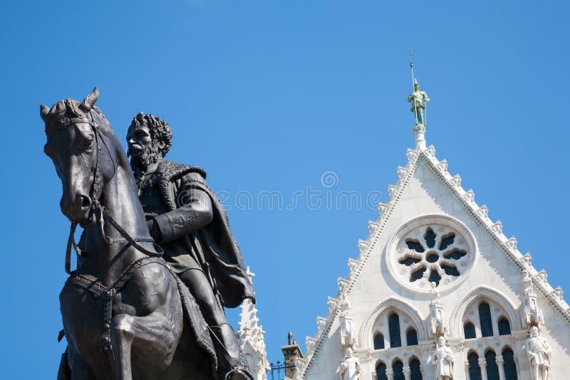 Andrassy gyvla statua, Budapest zdjęcia stock