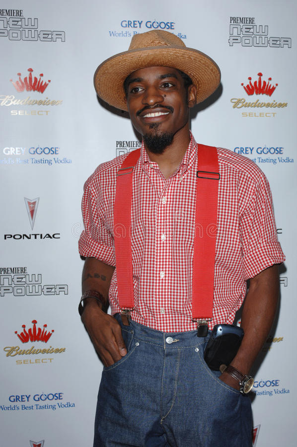 Andre 3000. Actor/singer ANDRE 3000 BENJAMIN at party for Premiere Magazine's The New Power issue, celebrating Hollywood power players under the age of 35, at stock photos