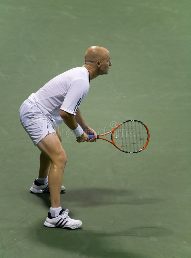 Andre Agassi 6 stock image