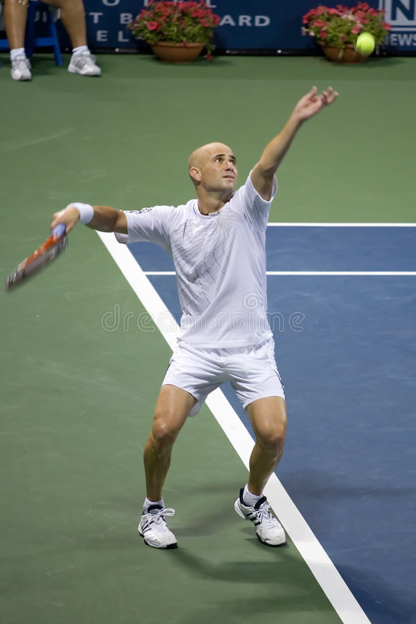 Download Andre Agassi Serve 2 Editorial Image - Image: 4260175