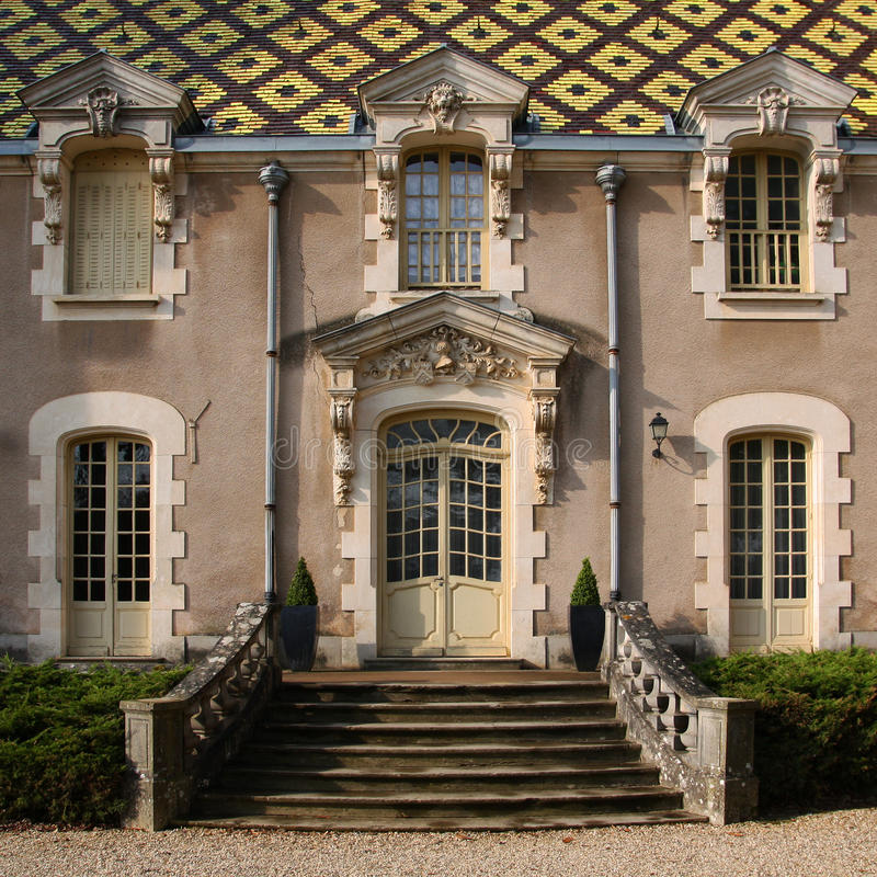 andre barokowy górskiej chaty corton France obrazy stock