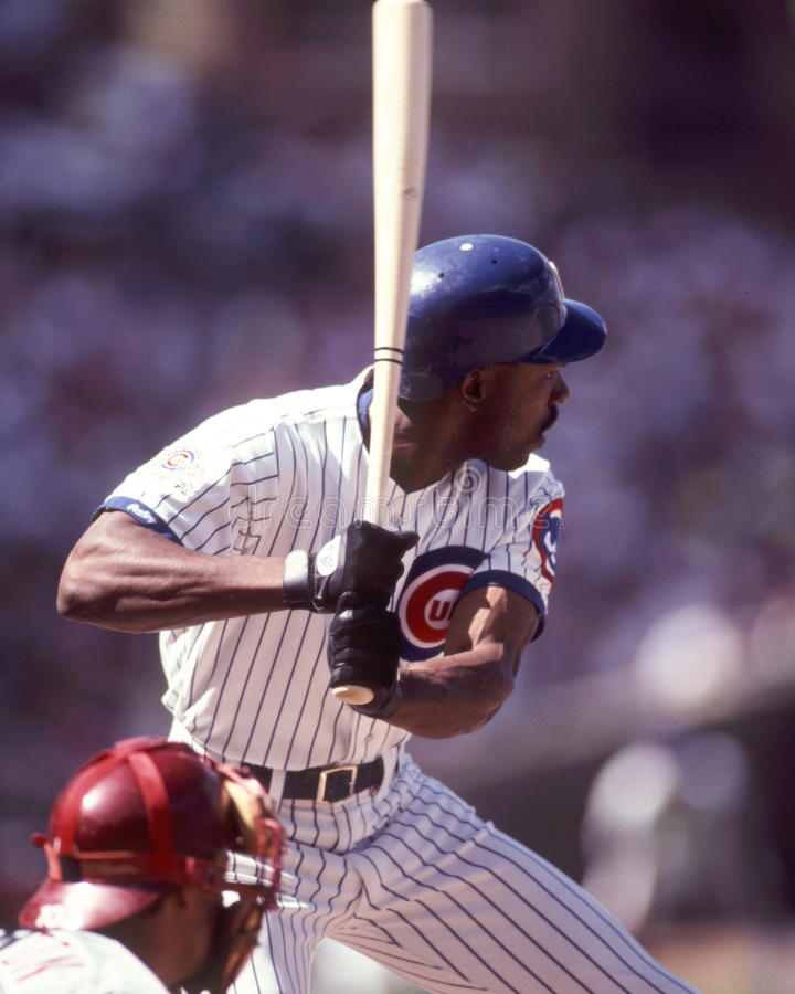 Andre Dawson, Chicago Cubs royalty-vrije stock afbeelding