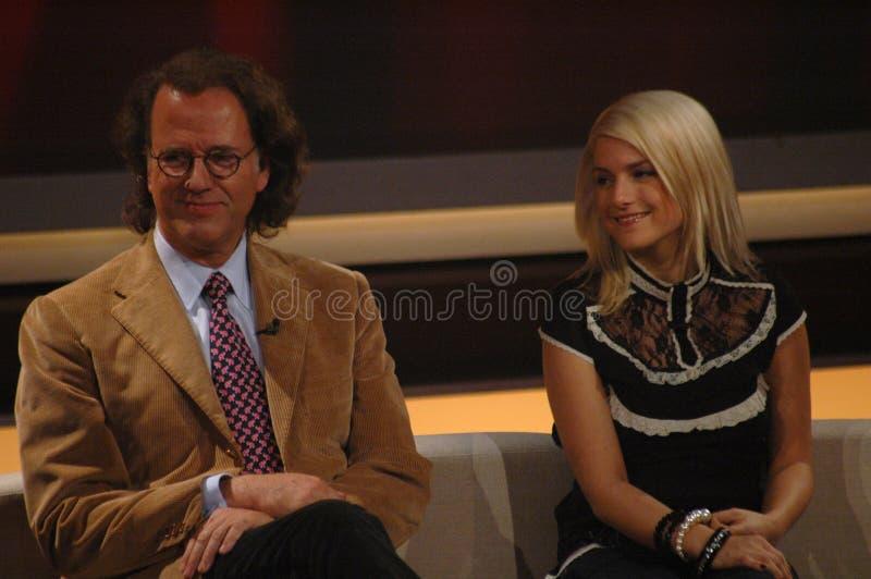 Andre Rieu, Jeanette Biedermann fotografia stock