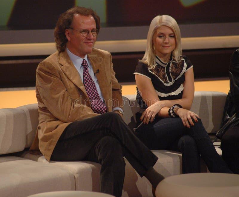 Andre Rieu, Jeanette Biedermann zdjęcia royalty free