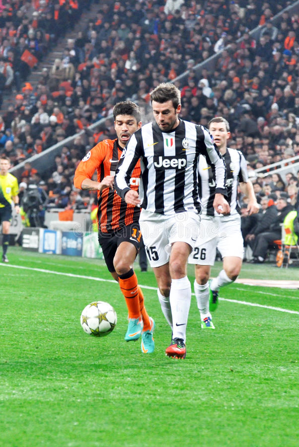 Andrea Barzagli running with the ball royalty free stock photos