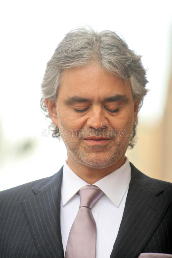 Andrea Bocelli royalty-vrije stock foto
