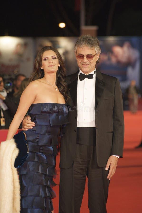 Andrea Bocelli und seine Frau stockfoto
