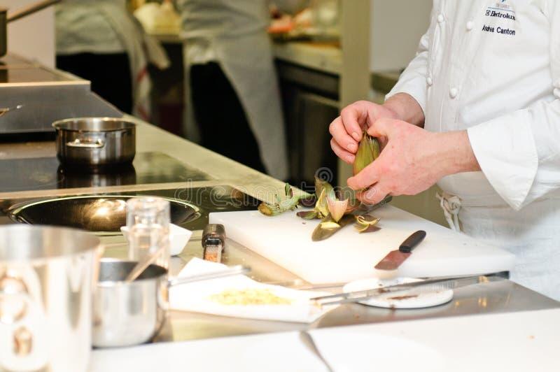 Download Andrea Canton Preparing A Vegetarian Dish Editorial Stock Photo - Image: 23439998