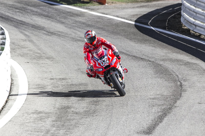 Andrea Dovizioso of Ducati Official team racing stock photography
