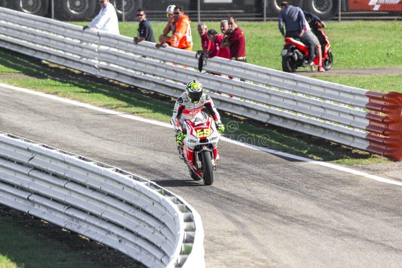 Andrea Iannone of Ducati Pramac team racing stock image