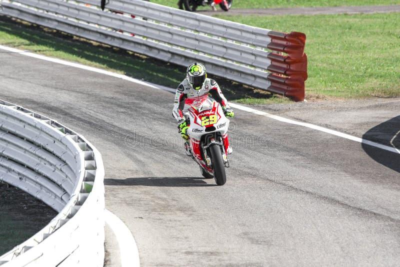 Andrea Iannone of Ducati Pramac team racing royalty free stock photo