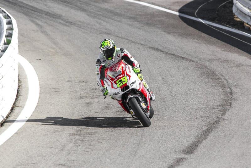 Andrea Iannone of Ducati Pramac team racing royalty free stock images