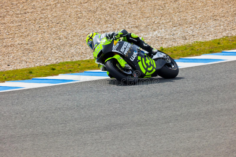 Andrea Iannone pilot of Moto2 in the MotoGP royalty free stock image
