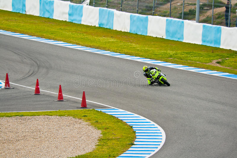 Andrea Iannone pilot of Moto2 in the MotoGP royalty free stock photo