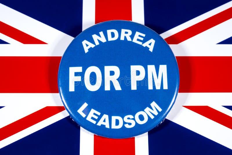 Andrea Leadsom para o primeiro ministro imagens de stock royalty free
