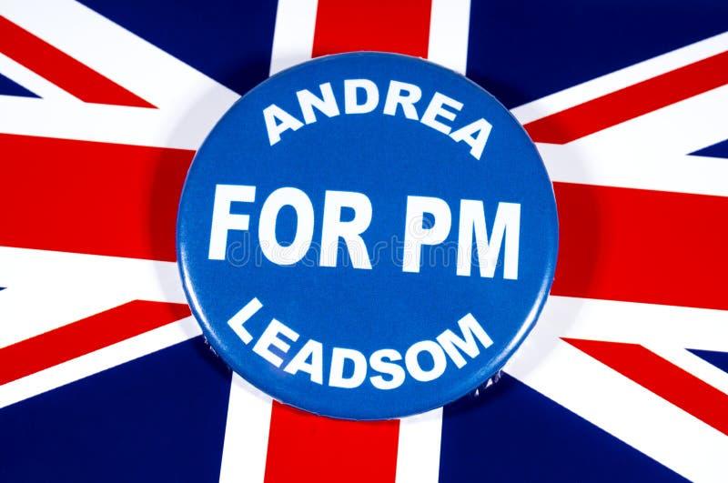 Andrea Leadsom para o primeiro ministro fotos de stock royalty free