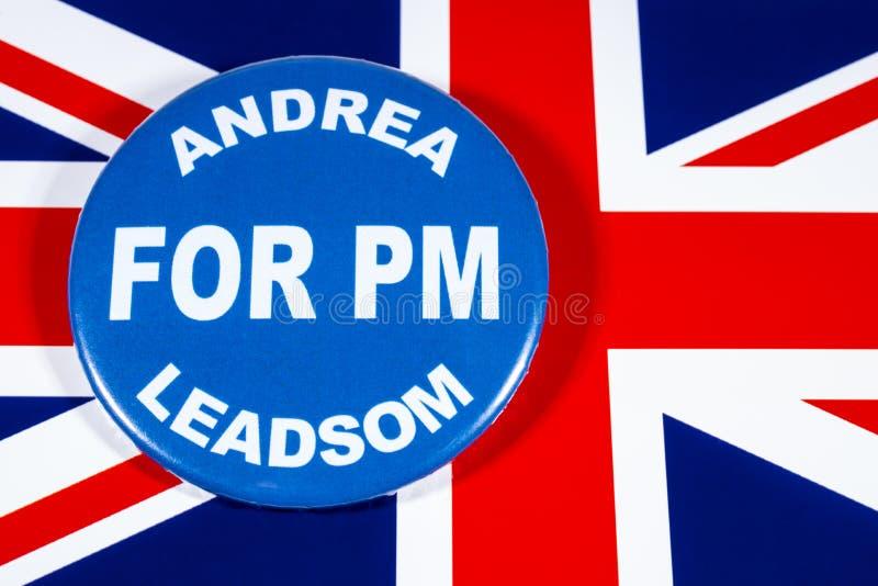 Andrea Leadsom para o primeiro ministro imagens de stock