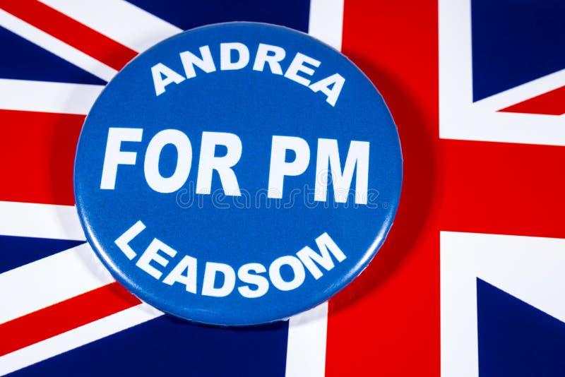 Andrea Leadsom para o primeiro ministro imagem de stock