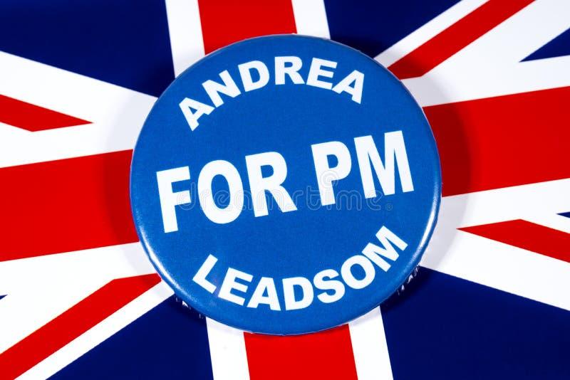 Andrea Leadsom para o primeiro ministro imagem de stock royalty free