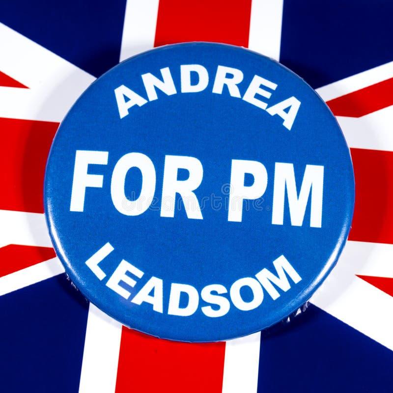 Andrea Leadsom para o primeiro ministro fotografia de stock