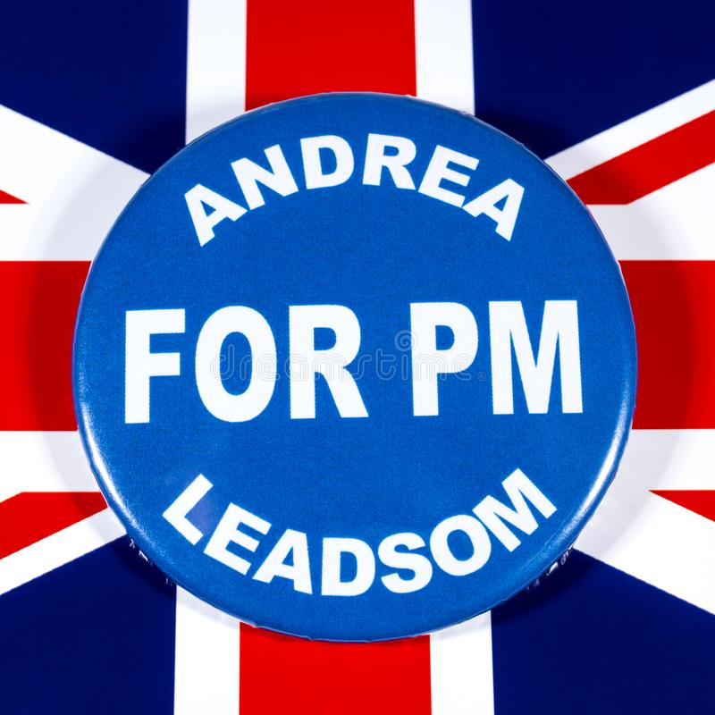 Andrea Leadsom para o primeiro ministro foto de stock royalty free