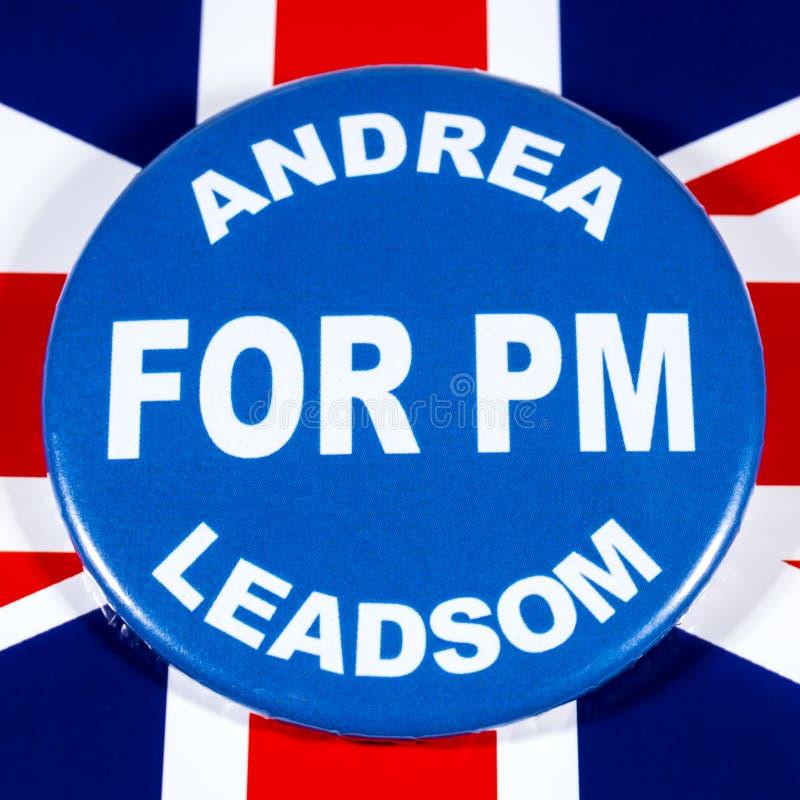 Andrea Leadsom para o primeiro ministro fotografia de stock royalty free
