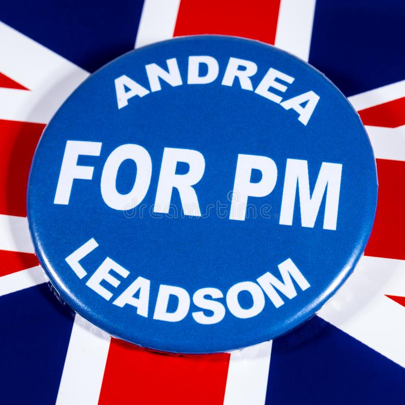 Andrea Leadsom para o primeiro ministro foto de stock