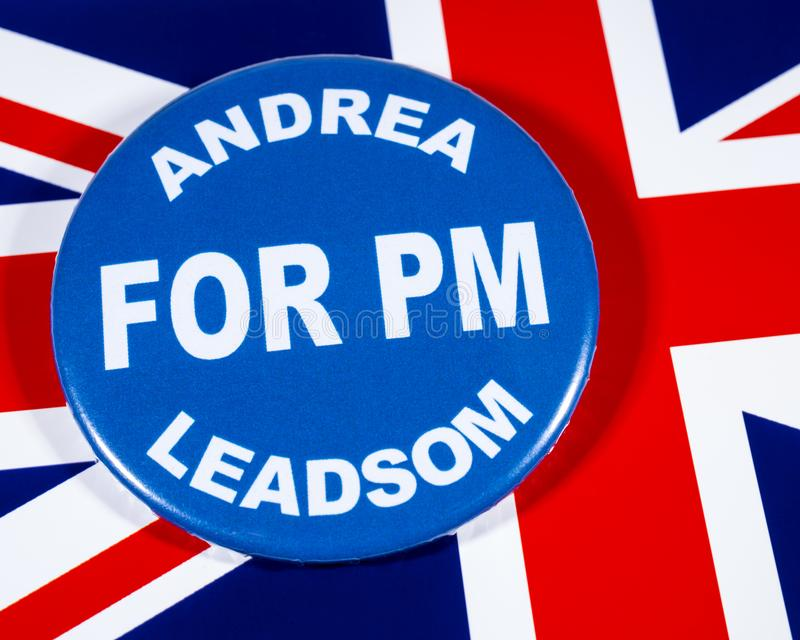 Andrea Leadsom para o primeiro ministro fotos de stock
