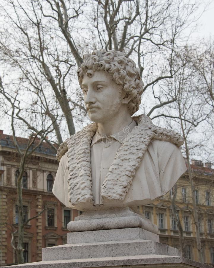 Andrea Schiavone-monument in Zagreb stock fotografie