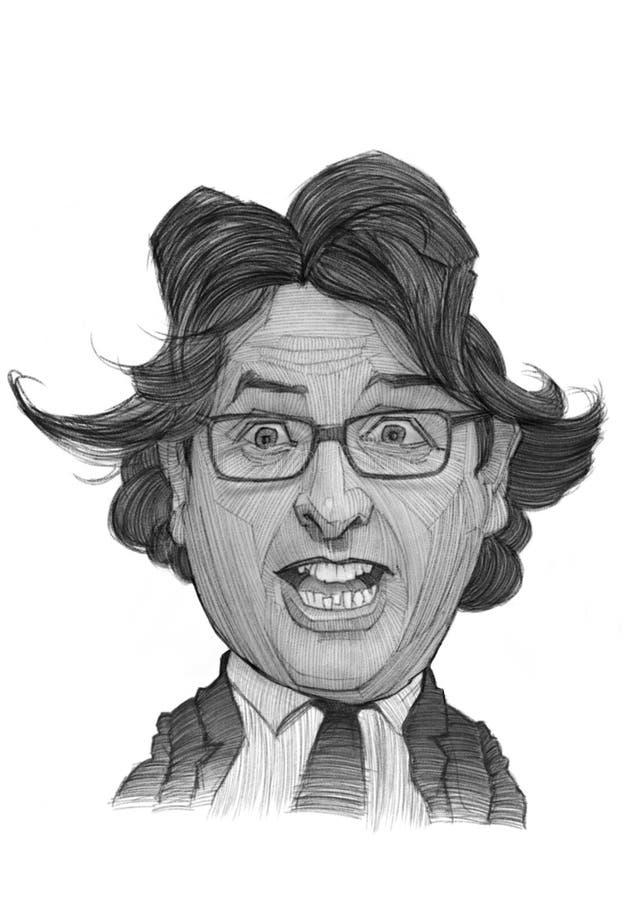 Andrea Trinchieri Caricature portrait royalty free stock photo