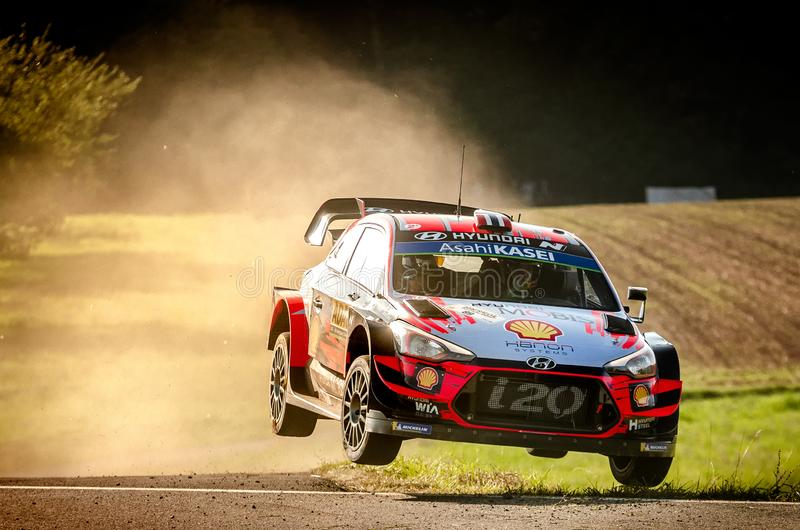 Andreas Mikkelsen and Anders Jaeger at ADAC Rally Germany stock image